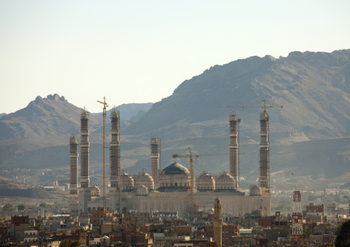 Impressively Al-saleh Mosque Under Contruction In Sanaa, Yemen