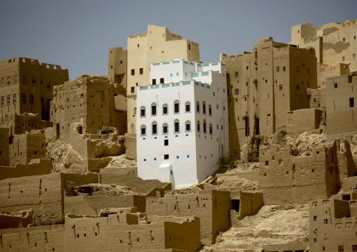Adobe And Painted Buildings, Al Hajjarin Village,, Wadi Doan, Yemen
