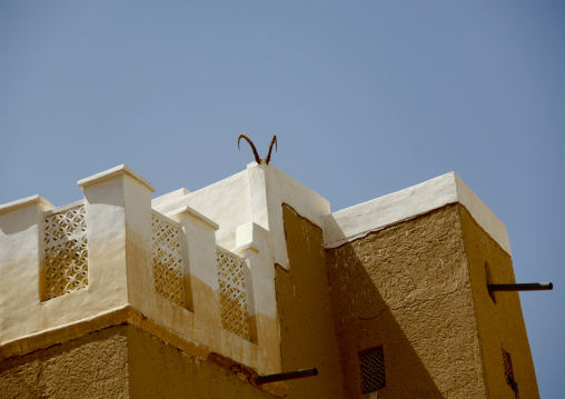 Ibex Horns Hung On A House, Wadi Doan, Yemen