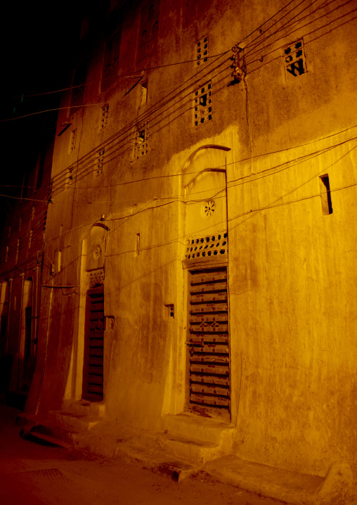 The Old Town Of Shibam At Night, Yemen