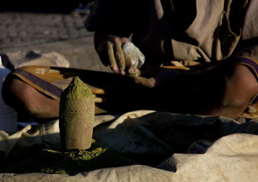 Detail Of Green Powder Sold In Sanaa Souq, Yemen