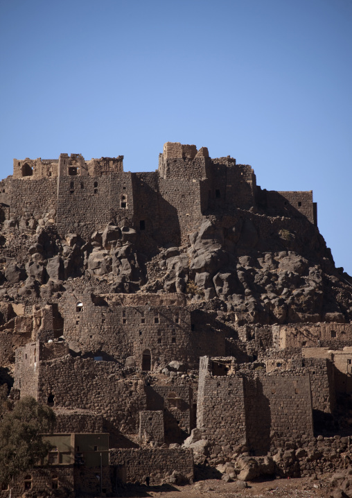 Village Merging With The Mountain Near Sanaa, Yemen