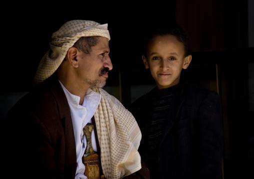 Man With Jambiya And His Son, Amran, Yemen