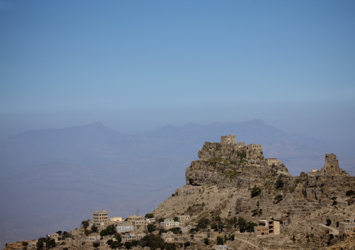 Village Posted On The Top Of A Mountain, Yemen