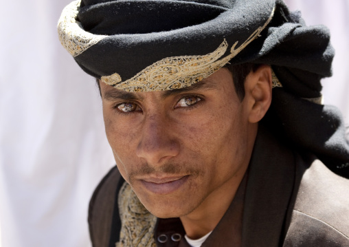 Portrait Of A Young Man In Amber Eyes, Yemen