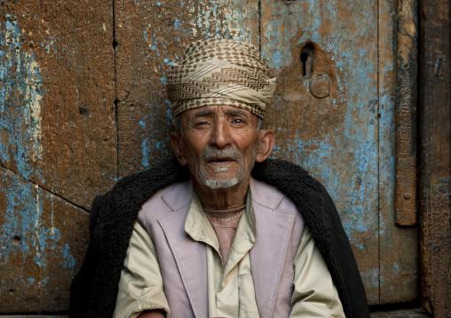 Old Man With Traditional Turban In Sanaa, Yemen