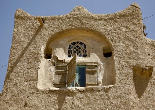 Sculpted Window In Amran, Yemen