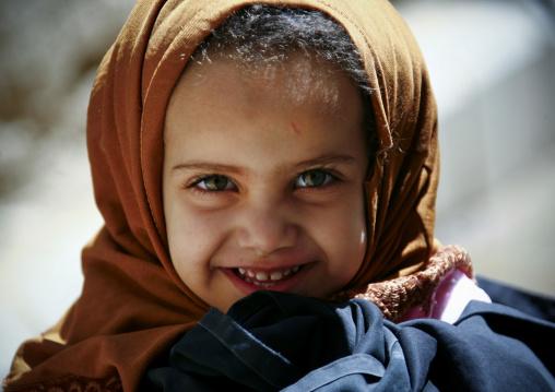 Little Yemeni Girl Smiling, Amran, Yemen