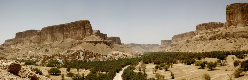 Panorama Of Wadi Doan, Hadhramaut, Yemen