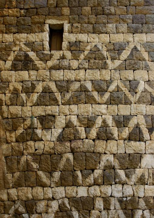 Detail Of A Decorated House Wall In Al Hajjara, Yemen