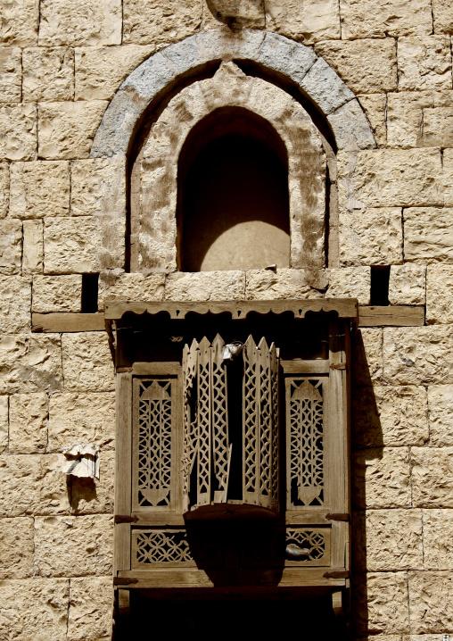 Mashrabiya On A Stone House, Amaan, Yemen