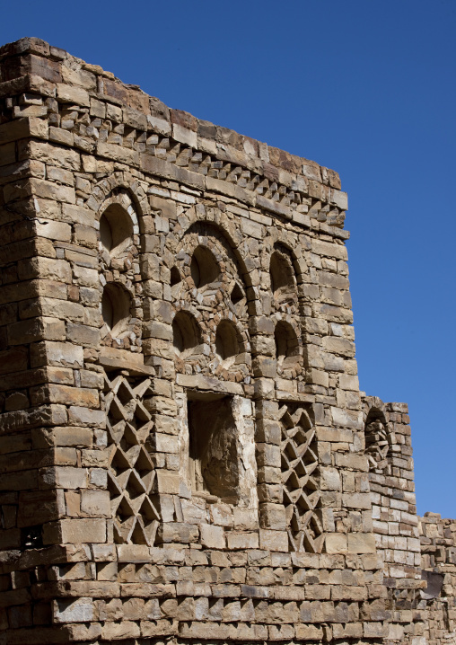 Front Of An Old Traditional Brick House, Thula, Yemen