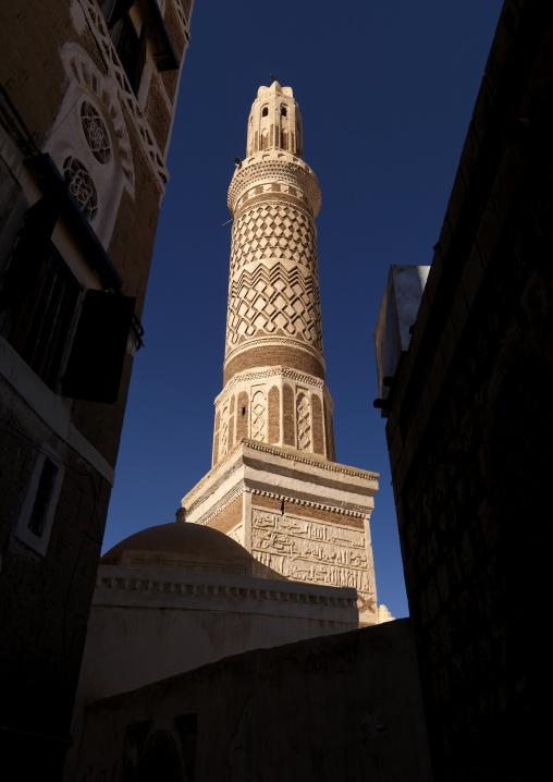 Sculpted Minaret In Sanaa, Yemen