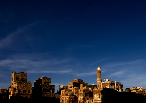 Amazing Light And Sky Over The Traditionally Sculpted Buildings Of Sanaa, Yemen