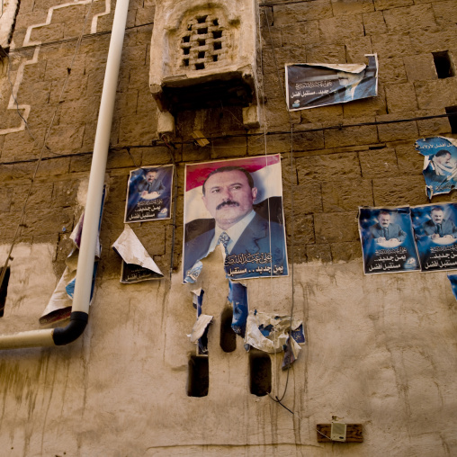 Poster Of Former Yemen President Ali Abdallah Saleh, Sanaa, Yemen