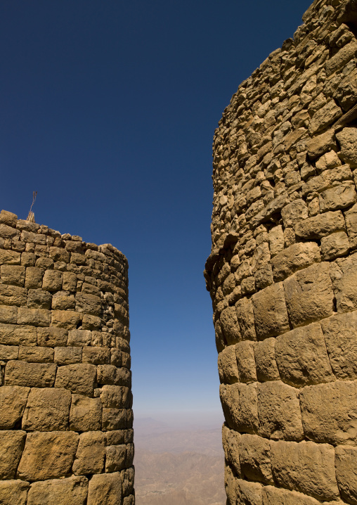 View From The Ramparts Of The Citadel In Kholan, Yemen