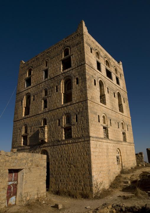 Three Storey Traditional Fort In Hajja, Yemen