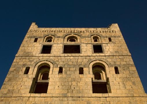 Front Of A Three Storey Traditional Building, Hajja, Yemen