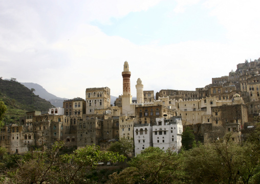 View Of Ibb And Its Mosque, Ibb, Yemen