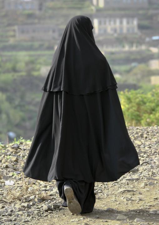 Veiled Woman Walking, Ibb, Yemen