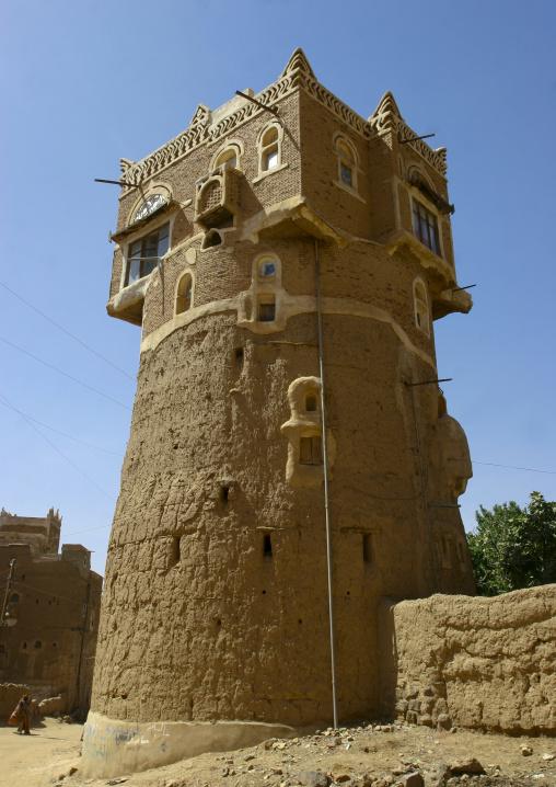 Adobe House In Wadi Dhar, Yemen