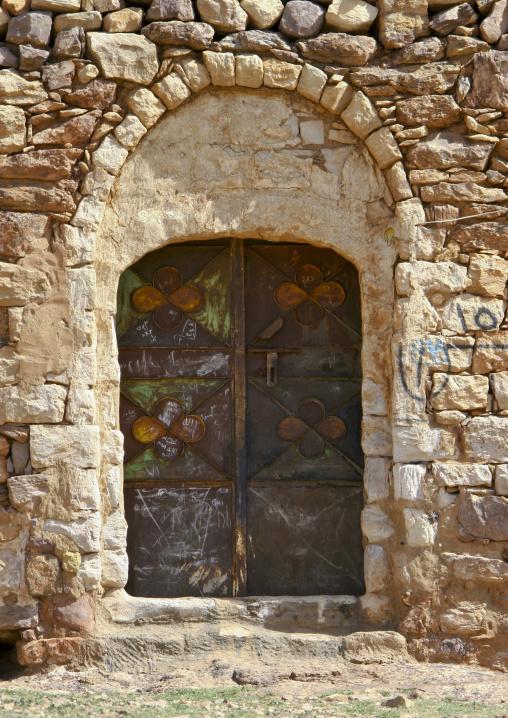 Iron Door Of An Old House, Yemen