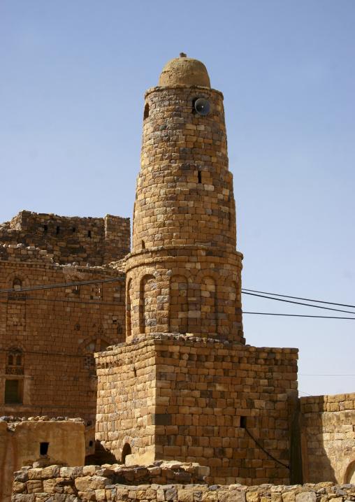 Minaret Of A Mosque, Ina Village, Yemen