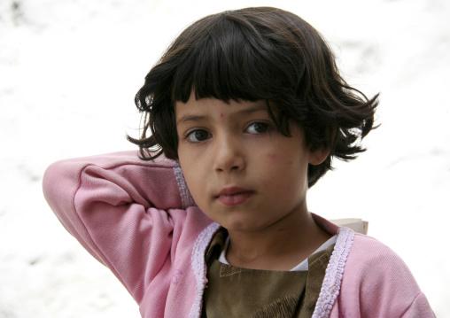 Portrait Of A Little Yemeni Girl, Sanaa,  Yemen
