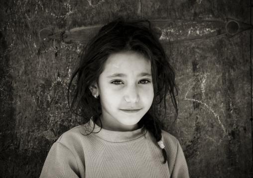 Portrait Of A Smiling Yemeni Girl, Sanaa, Yemen