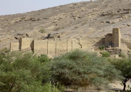 Remains Of The Dam At Wadi Adhana, Marib, Yemen