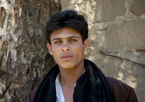 Young Man With Astonishing Light Blue Eyes In Dhamar, Yemen