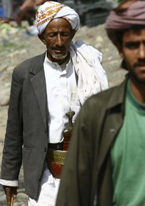 Men From Jebel Saber Wearing Jambia, Taiz Yemen