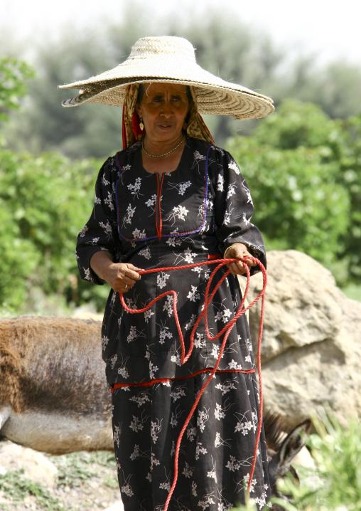 Yemeni Old Woman From Jebel Saber Wearing Two Hats, Taiz, Yemen