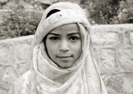 Yemeni Girl Wearing A Scarf, Yemen