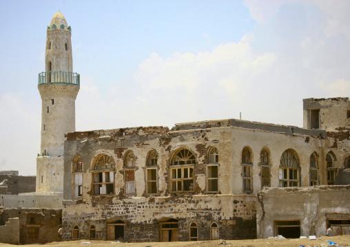 White Minaret Of A Mosque, Mocha, Yemen