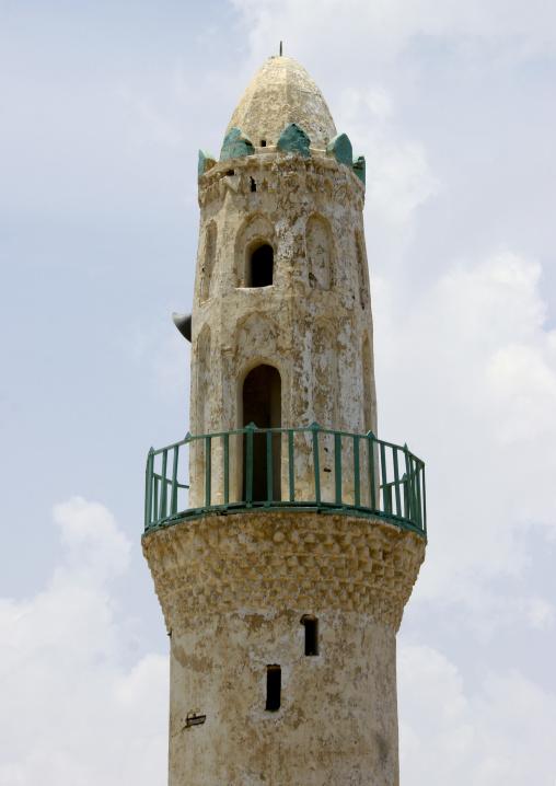 Minaret Of A Mosque In Mocha, Yemen