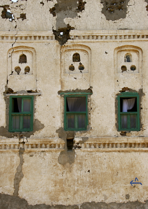 Front Of An Old House, Mocha, Yemen