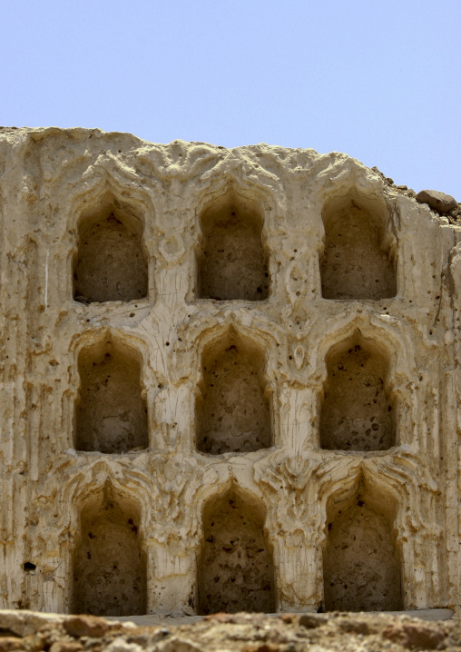 Remains Of The Sculpted Front Of A House, Mocha, Yemen
