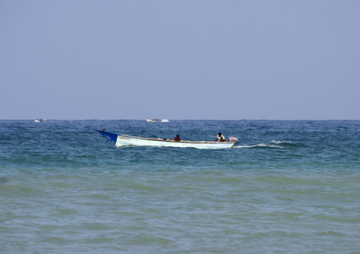 Boat Sailing On The Red Sea, Al Khukaha, Yemen