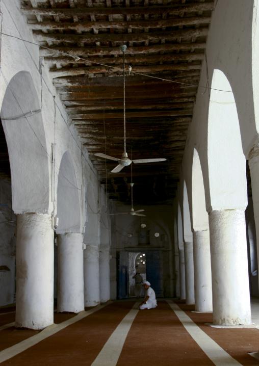 Man Sitting Under The Arcades Of The Mosque, Zabid, Yemen