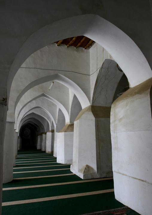 White Arcades In A Mosque, Zabid, Yemen