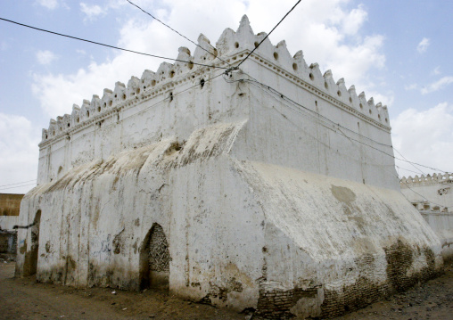 White Wall Of A Mosque, Zabid, Yemen