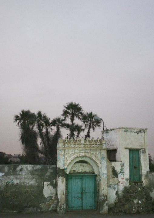 Turquoise Gate At Dusk, Al Hodeidah, Yemen
