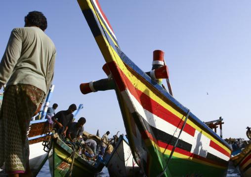 Bow Of A Dhow In Al Hodeidah, Yemen
