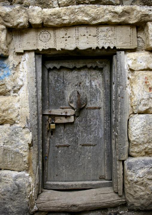 Old Jewish House Door, Al Hajjara, Yemen