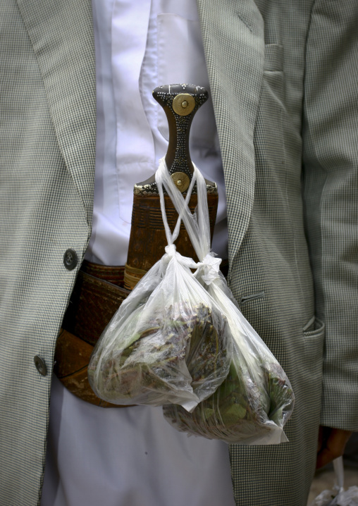 Detail Of The Qat And Jambia Attached To A Belt, Sanaa, Yemen