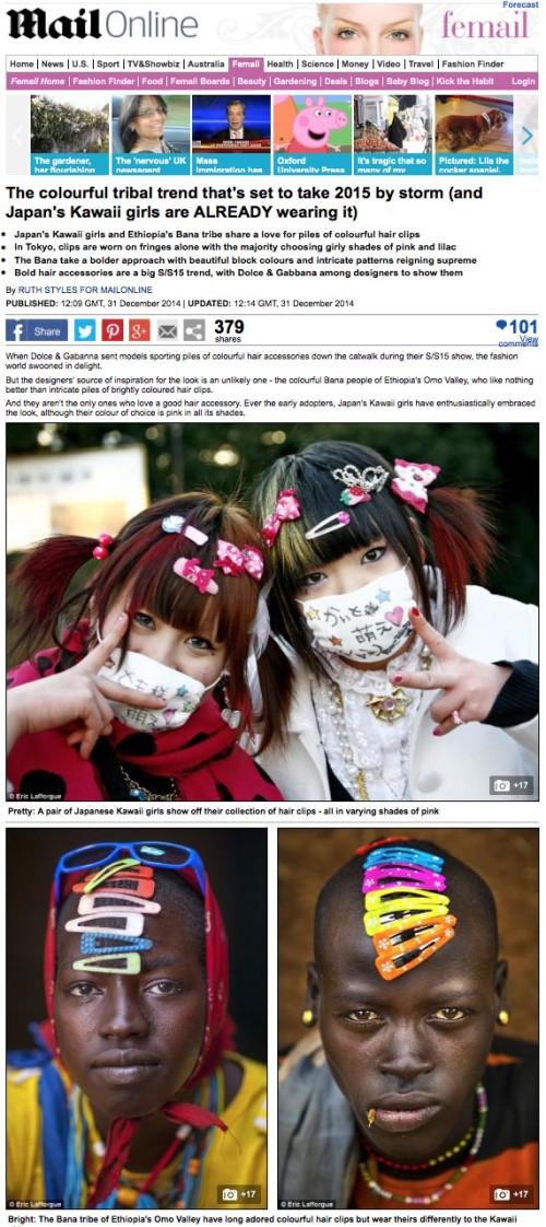 Daily Mail - Tokyo vs Omo