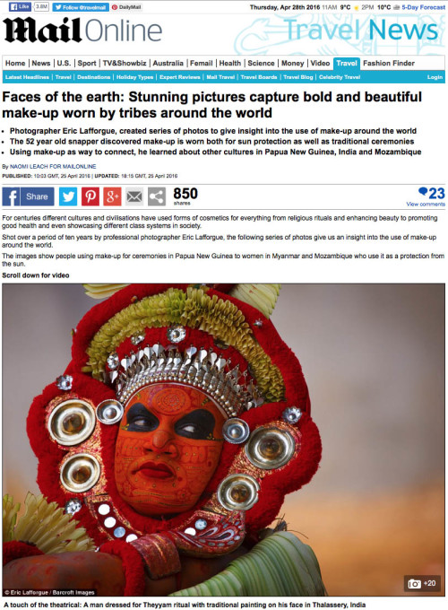 Daily Mail -  Faces of the earth