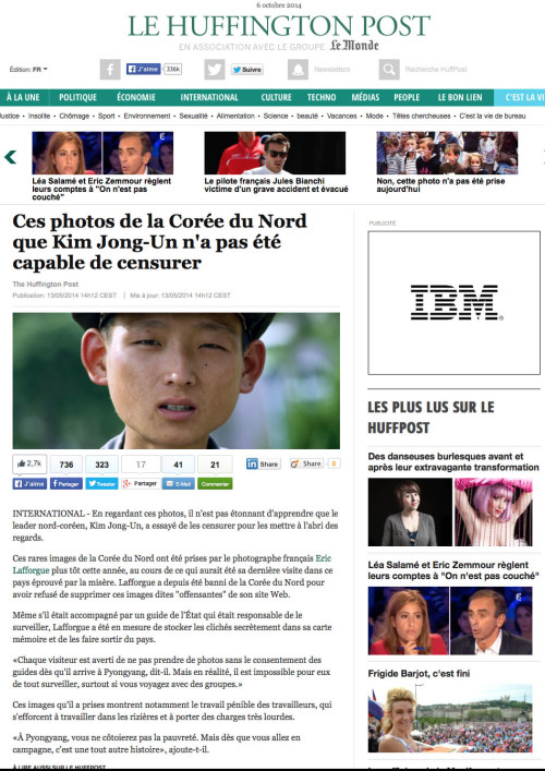 Le Huffington Post - North Korea